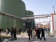 biogas plant with people
